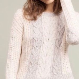 Sleeping in Snow Cropped Crew-neck Sweater